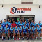 Elenco feminino do Vitória reforça musculatura na academia